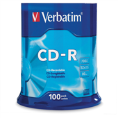 CDR VERBATIM 52X 700MB80MIN SPINDLE 100