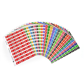 LABEL AVERY COLOUR CODING SERIES 4 ALPHA KIT AZ  MC PK1080