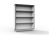 BOOKCASE RAPID INFINITY 1200HX900WX315DMM NATURAL WHITE