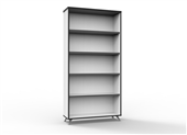 BOOKCASE RAPID INFINITY 1800HX900WX315DMM NATURAL WHITE