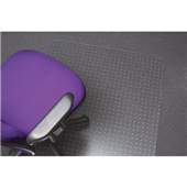 CHAIRMAT MARBIG POLYCARBONATE MEDIUM PILE CARPET X LARGE 1200X1500MM KEYHOLE