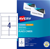 AVERY PLACECARDS C32073 85X50MM 4SHEET