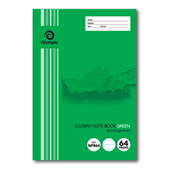 NOTEBOOK NSW PRIMARY STUDENT OLYMPIC 250X175MM 8MM SINGLE RULED GREEN 64PG NP864