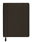 COMPENDIUM DEBDEN A4 ZIPPERED EXECUTIVE PORTFOLIO LEATHER BLACK
