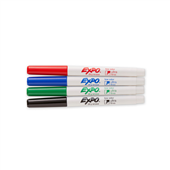 MARKER WHITEBOARD EXPO BULLET ULTRA FINE ASSORTED PACK4