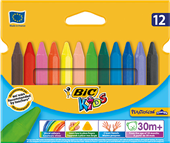 CRAYONS BIC PLASTIDECOR 829773 TRIANGLE ASSORTED PK12