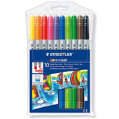 MARKERS COLOURED STAEDTLER NORIS CLUB 326 FIBRE TIP ASSORTED WLT10